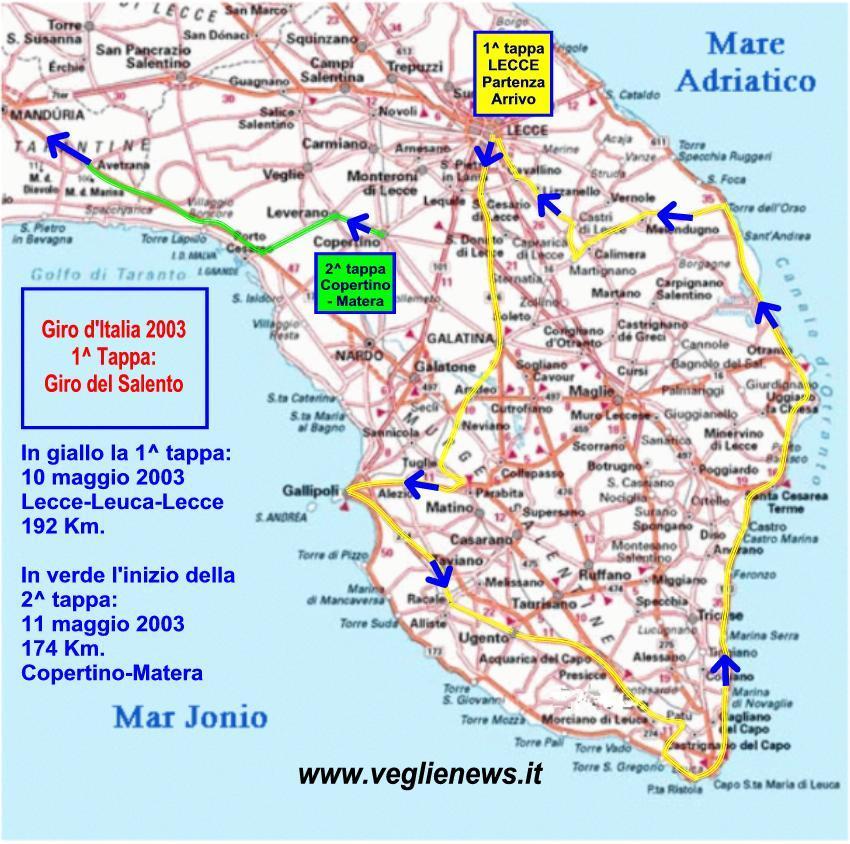 Il Giro Ditalia 2003 Una Vetrina Per Il Salento
